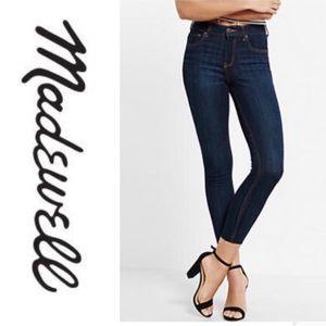 Madewell Skinny Skinny Dark Wash Raw Hem Jeans